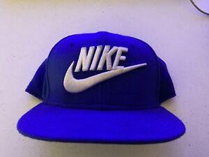 Nike True SnapBack Blue Baseball Cap Hat - Swoosh Logo Preowned