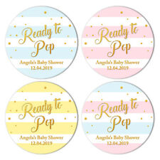 EXTRA LARGE BABY SHOWER PINK Gender Personalised Stickers GLOSS  MATTE 303