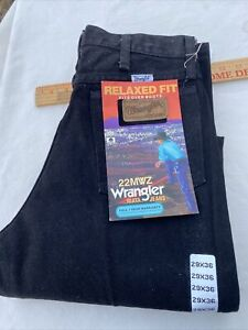 Vintage Wrangler 22MWZ Relaxed Fit Black Jeans 27 W X 36 L Nwt