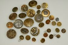 Amazing Antique Brass Button Lot, Asian, Insects, Floral Big & Small Etc.