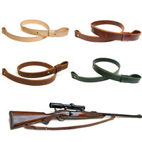 "Real Leather Rifle Sling Shooting Carry Shotgun Strap Hunting 1"" Wide With Screw"