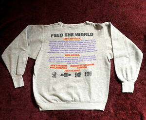 MADONNA MINT 1985 LIVE AID PROMO SWEATSHIRT NEW HOLIDAY INTO THE GROOVE PEPSI LP