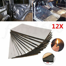 10mm Car Soundproofing Mat Deadener Heat Insulation Aluminum Foam 50*30cm 12pcs