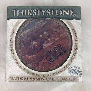Thirstystone Sandstone Coasters #TSZPGC Grand Canyon Set of 4  New In Box