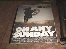 ON ANY SUNDAY C 1971 ROLL 27X41 ORIG MOVIE POSTER BIKER MOTORCYCLE STEVE MCQUEEN