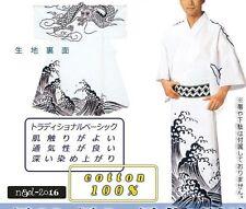 Japanese Yukata Dragon wave design #4 for men summer kimono cloth
