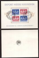 Germany, 1948 Hannover Export messe block on official sheet         -BN31