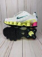 Nike Shox TL Pastel Womens Size 10 White Black Luminous Green AR3566 102 New