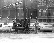 Photograph Detroit City Gas Company Pipeline Repair Year 1909  8x10