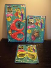 RARE LOT OF 3 HANNA-BARBERA FISH POLICE TOYS CLAW CUFFS,SQUIRT BADGE,SUNGLASSES