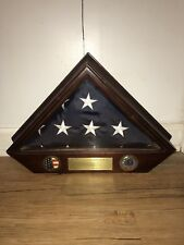 U.S. Military Funeral Flag Case Army National Guard