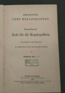 Fox: Demosthenes' Rede für die Megalopoliten - Griechisch / Deutsch (1890)