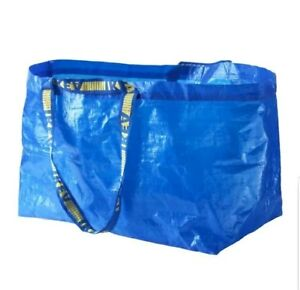 NEW IKEA FRAKTA Large Blue Reusable 19-Gallon Tote Bag
