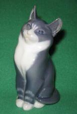 Royal Copenhagen Gray White Porcelain Cat Figurine no. 1805