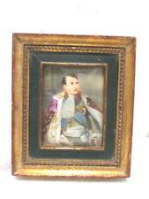 """Ancienne peinture miniature de l' """" Empereur Napoléon """" par Gros"""