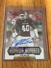2011 Upper Deck World of Sports Rc Autograph   #332 Von Miller SP Rare