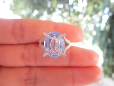 1.27 Carat Diamond 8.28 Carat Natural Sapphire White Gold Ring 18k codeR01 sep
