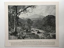 Victorian Print: Angerer & Gosh #PG Bettes-Y-Coed & Moel Siabod, From The Llugwy