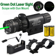 Tactical Green Laser Sight Dot Scope For Hunting 16340 Battery Charger Remote