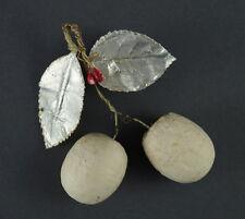 Alter Christbaumschmuck - Früchte aus Watte ~ 1900   (# 7191)