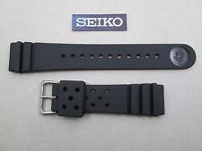 Genuine Seiko SKX173 dive black rubber watch band strap 22mm lug Z-22 4F24ZZ