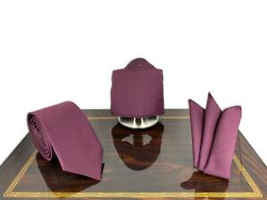 Purple 3D Face Mask, Tie, Handkerchief Set Father's Day Gift, Groomsmen Proposal