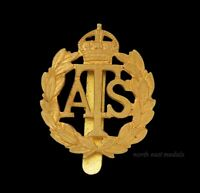 WW2 Women's  ATS Auxiliary Territorial Service Cap Badge