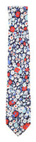 Finamore Napoli Navy Blue Floral Silk Tie - x - (937)