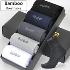 Anti-Bacterial Bamboo Fiber Long Socks for Men Breathable and Comfortable 5pair