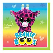 BEANIE BOOS SMALL NAPKINS (16) ~ Birthday Party Supplies Beverage Serviettes