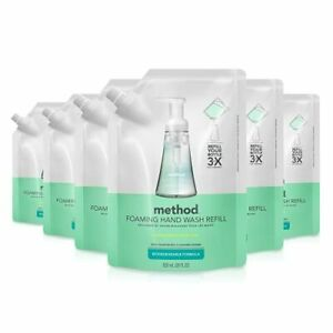 Method Foaming Hand Soap Refill Coconut Water 28 oz 6 pack Packaging May Vary
