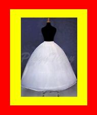 4-Hoop Bone Super Full Wedding Dress Petticoat Crinoline Bridal Slip Skirt