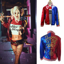 Suicide Squad Harley Quinn Women Cosplay Costume Lot Bomber Jacket Tops Shorts