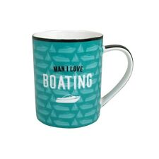 53553 MAN I LOVE BOATING NEW BONE CHINA 300ML COFFEE TEA MUG CUP