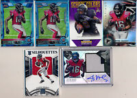 ATLANTA FALCONS RC Lot (12pc) JUSTIN HARDY & TEVIN COLEMAN Patch, AUTO, RC Ref
