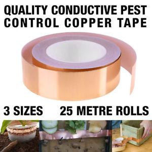 Copper Slug Tape 25m Adhesive Conductive Repellent Guitar Pickup Tape EMI Shield