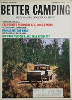 Better Camping Vtg Sept 1970 Magazine - California Redwoods - Illinois Ozark