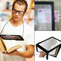 Giant Large Hands Free Magnifying Glass With Light LED Magnifier For Reading UK