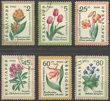 Timbres Flore Bulgarie 1018/23 o lot 9762
