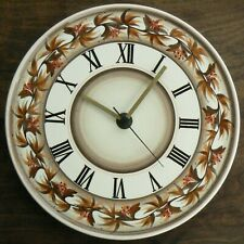 A Vintage Jersey Pottery Wall Clock 27 cm Diameter - Brown/White - Studio Retro
