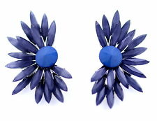Bracciale stile BLUE BIRD PIUMA / fiore orecchini a perno
