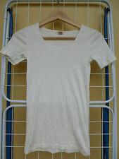 HESS NATUR Shirt aus feiner Bio-Baumwolle Größe 34 weiß kbA öko