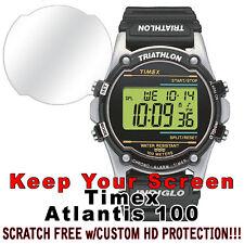 Timex Atlantis 100 WATERPROOF HD Clear Crystal protector anti scratch set of 2