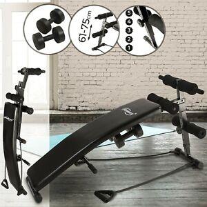 Physionics® Sit Up Bank Bauchtrainer Trainingsbank Fitnessbank Rückentrainer