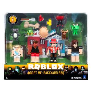 Roblox Adopt Me Figure Pack Backyard BBQ 4 Figures Plus Accessories 13 Pieces