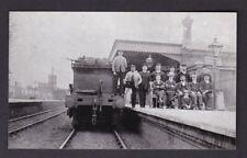 Shropshire GWR SHIFNAL Railway Station engine crew & station staff photograph