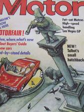 "October Motor Cars, 1980s Magazines"""