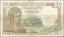 50 FRANCS CERES - 13.5.1937 - Billet de banque français (TB)