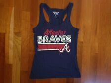 Atlanta Braves Tank Top Women's Small Baseball Retro Vtg Throwback Racerback Fit