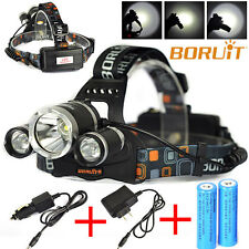 15000LM 3x XM-L T6 LED Headlight Headlamp 18650 Light Lamp Torch Camping Cycling